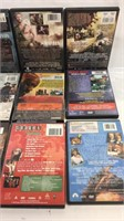Group of 12 DVD's cases have been wet