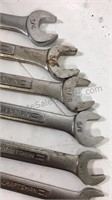 Group of craftsman metric and standard wrenches