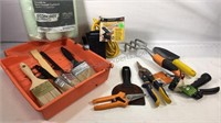 Small crate full of various household tools