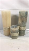 Group of 3 brand new scented candles