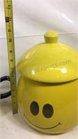 Ceramic smile face teapot and cookie jar