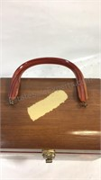 Vintage wood purse box