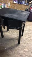 "Black side table 24"" x 16"" x 27"""