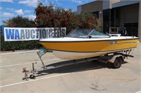 Fibreglass 16ft Boat With Outboard & Trailer