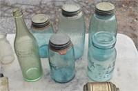 Old Blue Jars & Bottles