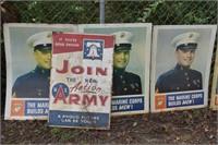 Large WW2 Metal Signs