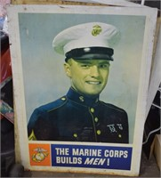 Large Metal Marine Corps Metal Sign