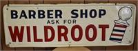 Barber Shop Wildroot Metal Sign