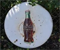Coca-Cola White Button Sign