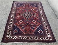 Persian Joshagon wool on cotton pile carpet