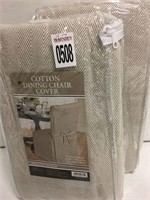2 PIECE DINING CHAIR COVER