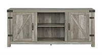 WE FURNITURE BARN DOOR TV STAND(NOT ASSEMBLED)