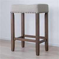 COUNTER-HEIGHT UPHOLSTERED STOOL (NOT ASSEMBLED)
