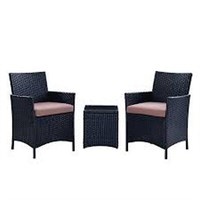 3PCS OUTDOOR SEATING SET- CUSHIONS ARE NAVY