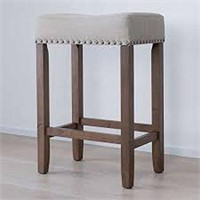 COUNTER HEIGHT UPHOLSTERED STOOL (NOT ASSEMBLED)