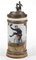Mettlach bicycle stein