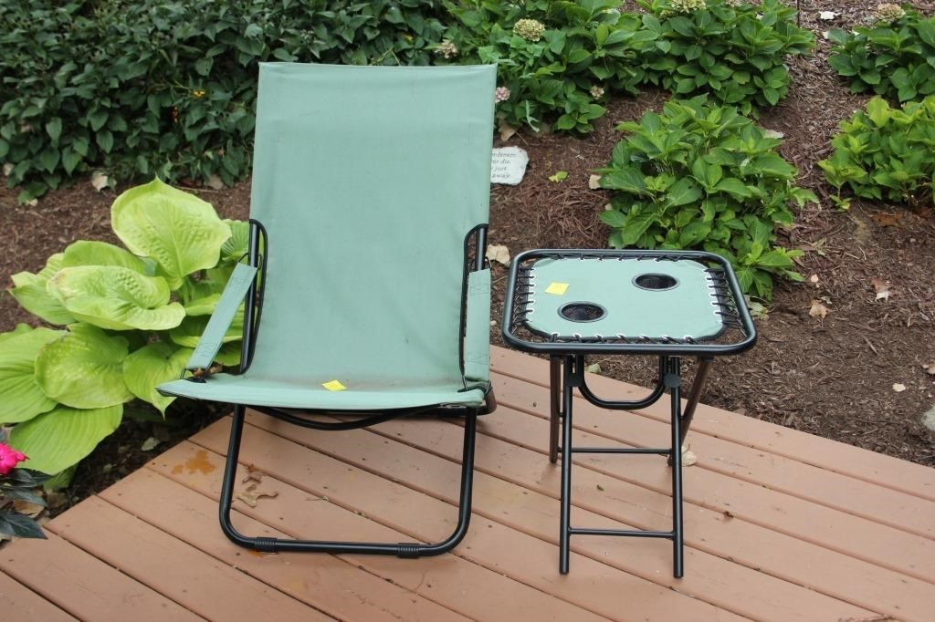 Awe Inspiring Summer Winds Canvas Folding Patio Chair Epic Auctions And Creativecarmelina Interior Chair Design Creativecarmelinacom