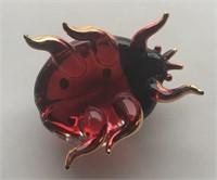 Antique Glass Lady Bug