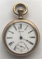"Waltham Pocketwatch ""Fortune Railroad"" Gold Plat"