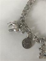 Ladies Sterling Charm Bracelet
