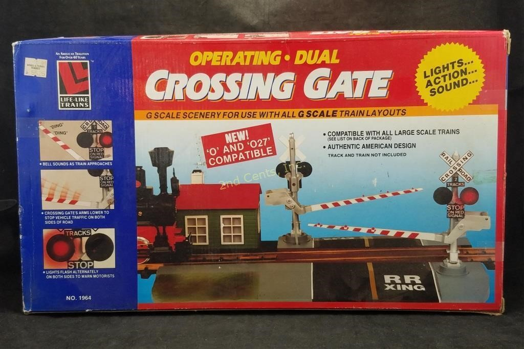 Life-like Crossing Gate G Scale O & 027 Compatible | 2nd