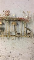 Metal wall sculpture 45 inches long approximately