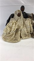 """Wood and kettle cloth figurines-8"""" tall"""