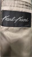 Karl Kani 100% wool 2pc men's suit brown