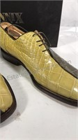 Fennix Italy Two-tone Alligator Shoes Size 9 1/2