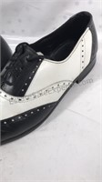 Basini Black & White wing tip shoes size 9