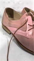 Emilio Franco Pink Suede Shoes Size 9 Made in