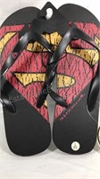 Superman Logo Flip Flops unused with tags and