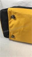 Las Vegas yellow and black Duffle bag W/shoulder