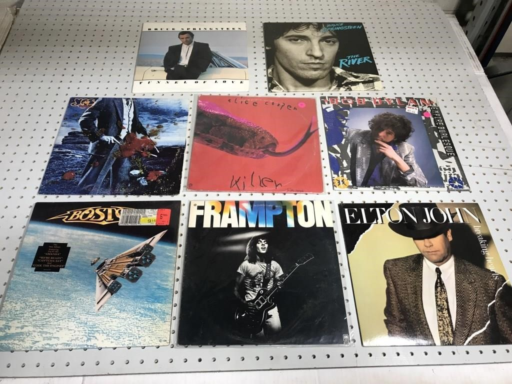 Eight classic rock records | MTC Online Auctions