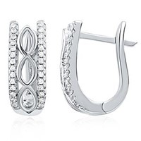 Beautiful Sterling Silver Earrings with CZ