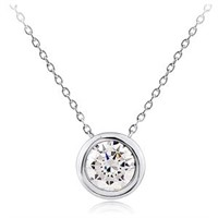 Beautiful Silver Necklace with CZ