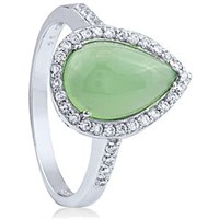 Beautiful Sterling Silver and Jade Ring