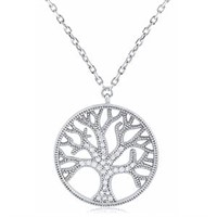 Tree Of Life Necklace with CZ