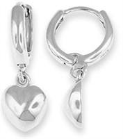 Lovely Sterling Silver Heart Earrings