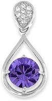 Pendant w/ Amethyst Gemstone Crystal