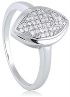 Sterling Silver Ring with Micro Set CZ