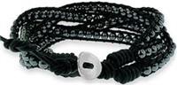 Triple Wrap Bracelet with Hematite