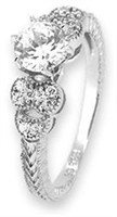 Stunning Sterling Silver Ring with CZ