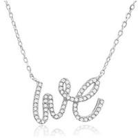 Silver Necklace WE w/CZ