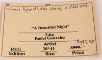"Art Disney Lady & the Tramp ""A Beautiful Night"""