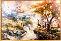 Art Disney Bambi Thomas Kinkade COA