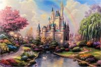 Art Disney Cinderella's Castle Thomas Kinkade