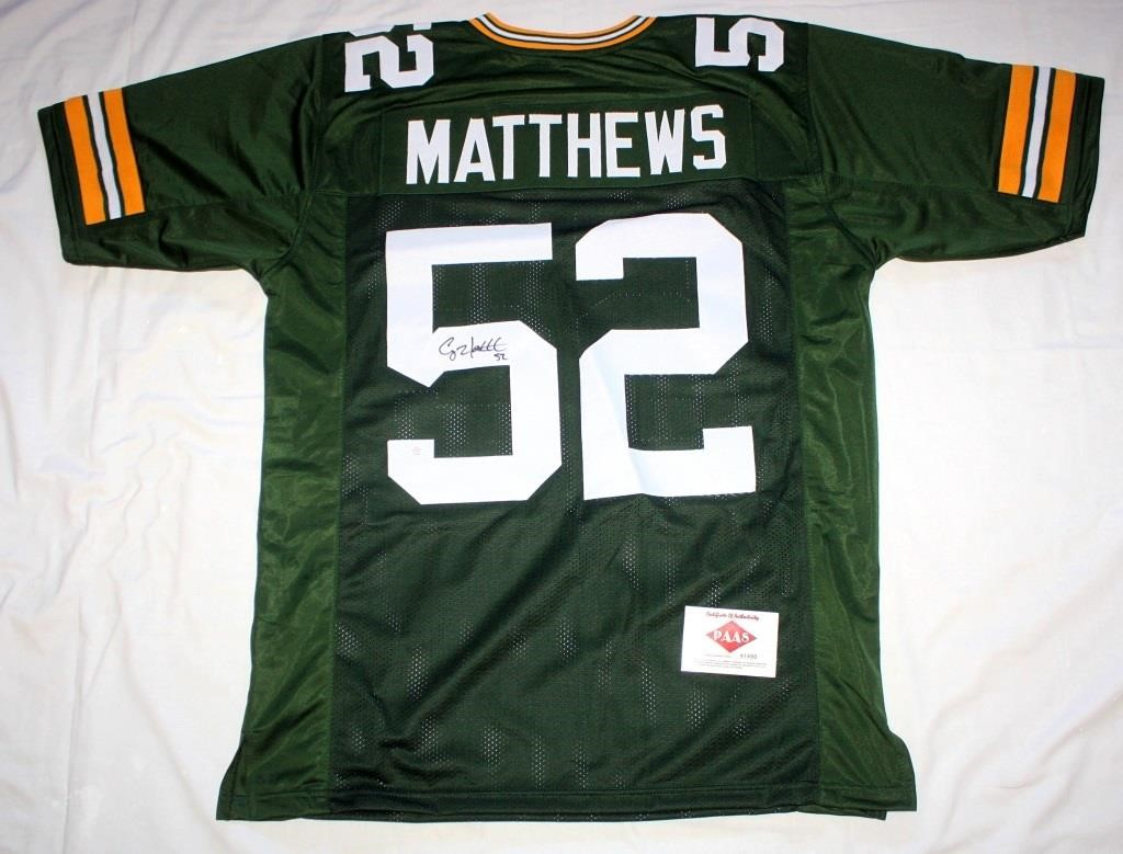 new style 38b3c d18cb Clay Matthews #52 Green Bay Packers Jersey | Linnebur ...
