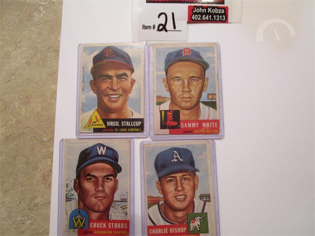 Auctiontimecom 1953 Baseball Cards 1950s Online Auctions