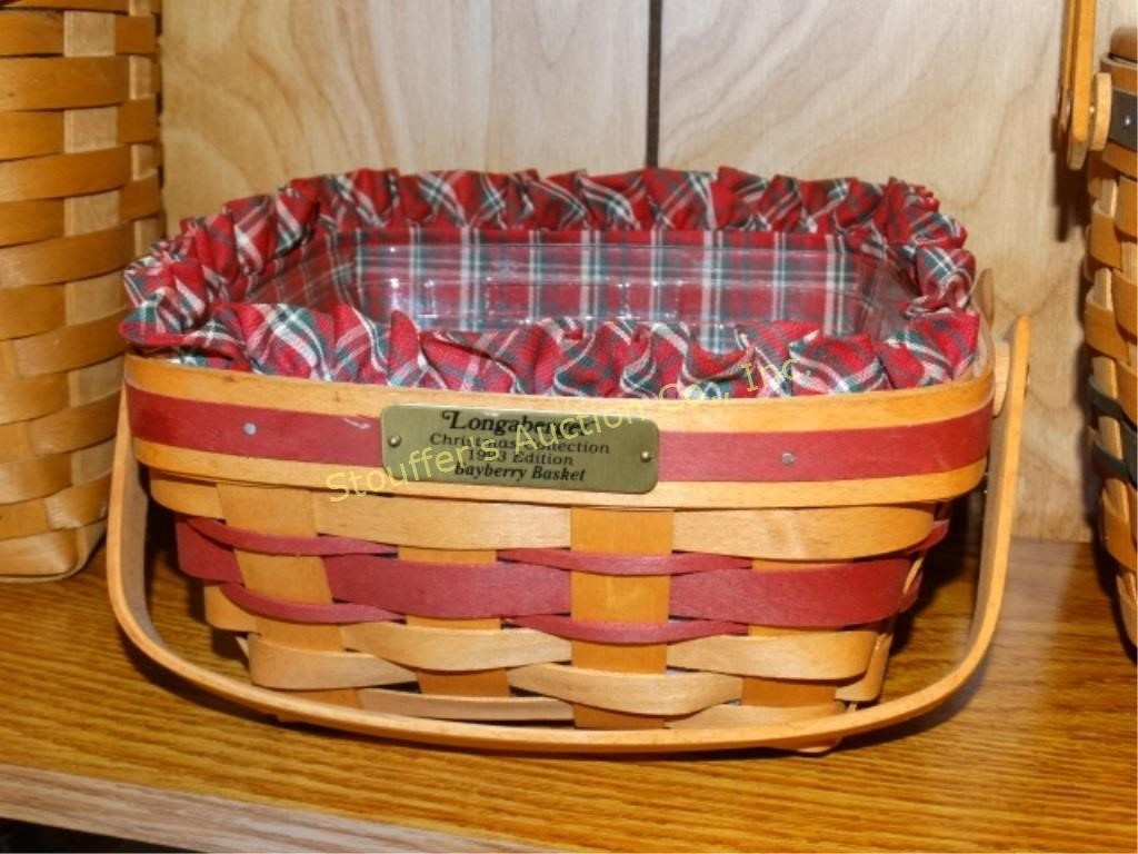 Longaberger Christmas Basket.Longaberger 1993 Christmas Collection Bayberry Stouffer S